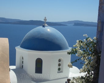 Santorini Greece Photography, Greek Wall Art, Travel Photograph, Ready to Frame, Made to Order Sizes!