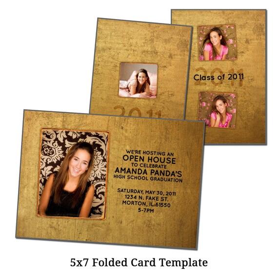 5x7 folded card template textured date digital file. Black Bedroom Furniture Sets. Home Design Ideas