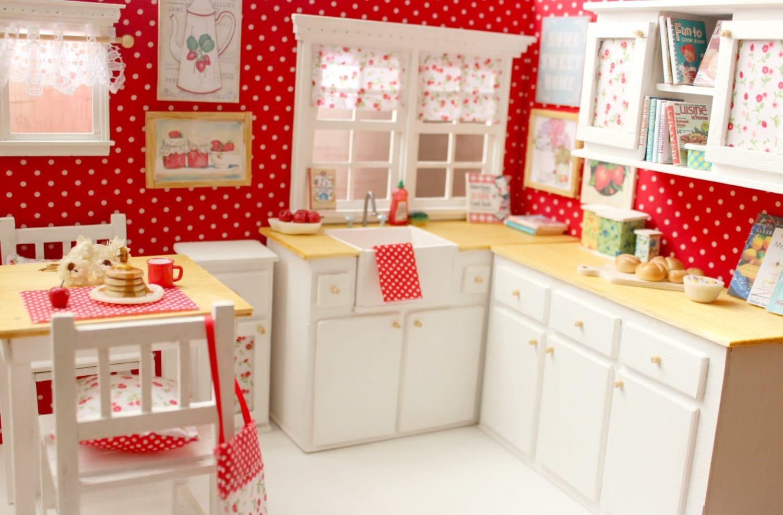 Kitchen Doll Ooak Diorama Pretty Dots By Moonchildsilverdream