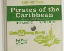 Pirates of the Caribbean Pana-Vue Slides - Walt Disney World Vintage/Retro Disneyana New in Package Set of 5 Five