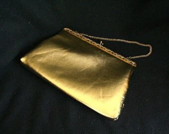 Vintage 1960's Gold Evening Purse
