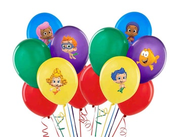 Balloon or Tablecloth Stickers Team Umizoomi Bubble Guppies or Paw Party Decorations Self Adheshive Party Favor Balloon Decals