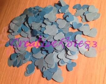 Heart-shaped confetti cut