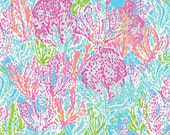 "Lilly Pulitzer Let's Cha Cha Fabric for Letters 5"" by 5"""