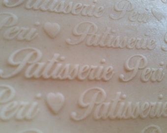 Personalized Engraved Wood Rolling Pin RP-Patisserie Cursive