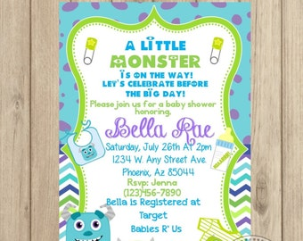 monsters inc baby shower invitations monsters inc baby shower
