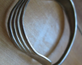 Sterling silver fork bracelet