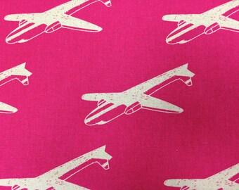 Echino decoro etsuko furuya for kokka one half yard cut for Childrens airplane fabric