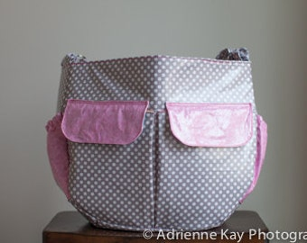 Oil Cloth Diaper Bag