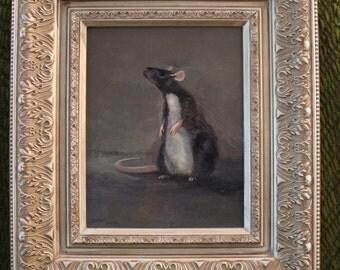 Commissioned portrait of pet rat
