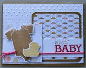 Sweet baby card for boy or girl