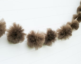 Brown Tulle Garland