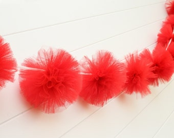 Red Tulle Garland
