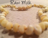 Baltic Amber Teething Necklace Polished or Raw 11 or 12.5 inch Drooling, Colic, Reflux Milk Cognac Lemon Luxury Maximum Effective Authentic