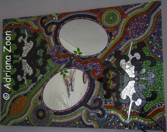 Seeing Double. One of a kind mosaic artwork. Super decorative!