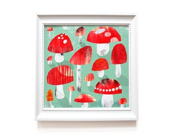 Art print   Fly agarics