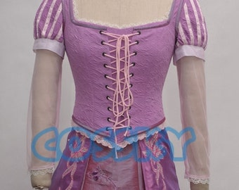 Tangled Princess Rapunzel Dress Cosplay Costume