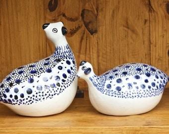 Accessories Ceramic guinea fowl ornaments