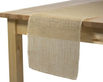 Burlap Table Runner 12 1/2 x 96 inches, Rustic Wedding Burlap Table Runners with Fringed Edges, Burlap Table Runners for Rustic Weddings