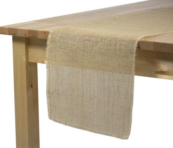 burlap table runner 12 1 2 x 120 inches rustic wedding burlap