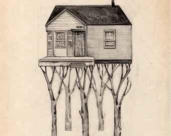 Casa Árbol I-Glicée Print