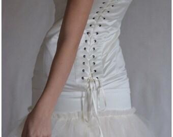 wedding dress boned Maureen