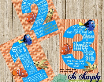 Finding Nemo  Birthday Invitation **Custom**Digital Invitation