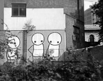 London Photography, Stik, Street Art, Fine Art Print, Contemporary Wall Art, Urban Photography, Garden Graffiti