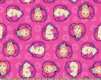 Elsa Anna Flannel Fabric Disney