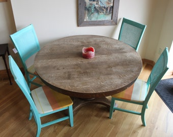 Set of 4, Sunset Kitchen table chairs. Up-cycled, hand painted, and one of a kind.