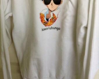 neon genesis evangelion kaworubunga sweater