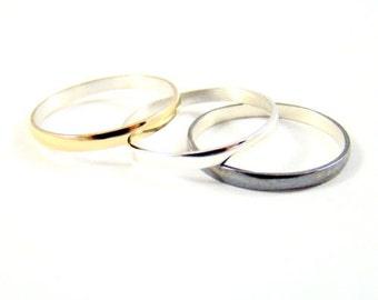 Great 2mm ring Silver 925 colour and size at choice