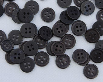 A selection of tiny brown/black craft buttons, small cute buttons for DIY crafts