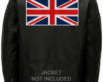 Large UNION JACK UK Flag Patch iron-on embroidered applique Top Quality