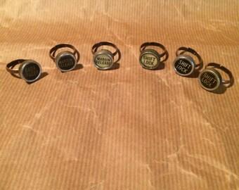 Small Function Key Typewriter Rings