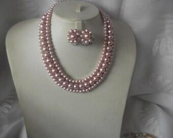 Lady Di Pink Pearls