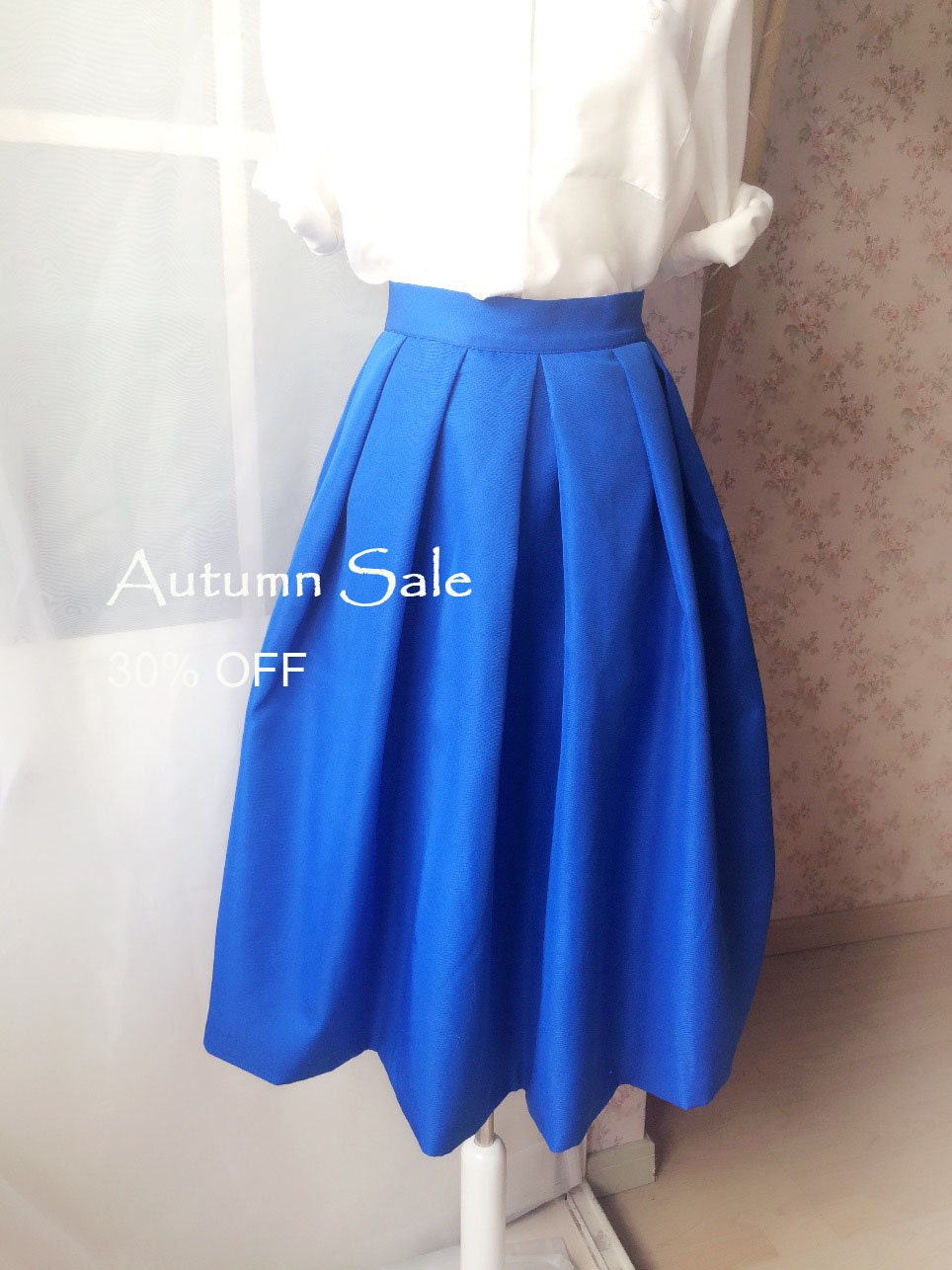 Royal Blue MAXI SKIRTS / Pleated Skirts / Long Maxi Skirts ...
