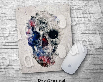 Skull, Personalized Computer Mouse Pad, Skeleton Mouse Pad, Galaxy Natural Soft Fabric rubber backing Mouse Pad - SK03