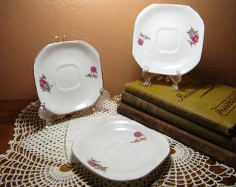 Vintage Small Square Plates (3)