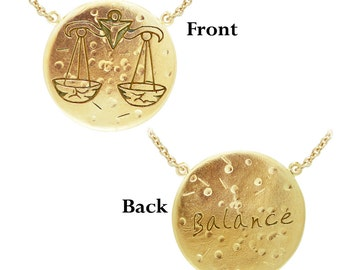Libra: BALANCE (The Scales) Astrology Necklace