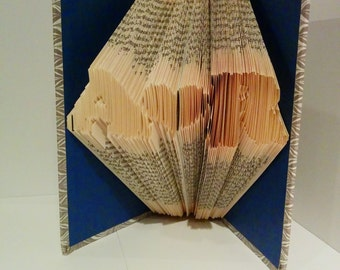A <3 R - Folded Book Art - Customized for YOUR initials