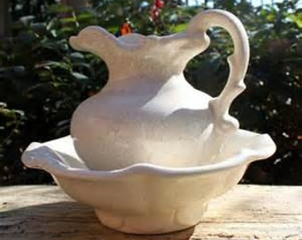 DISM007  McCoy Glazed Pitcher and Bowl