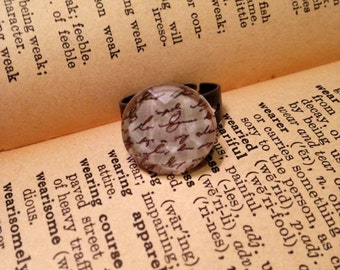 Ring with Writing