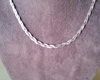 Braided Chain 18in 2 color