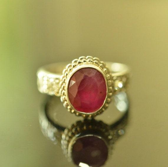 Genuine Ruby Rings For Men
