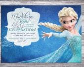 Disney's Frozen Child's Birthday Party Invitation: Elsa