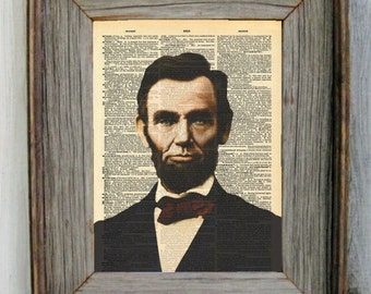Abraham Lincoln Dictionary Art Print