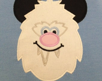 Mouse Yeti Ear embroidery shirt