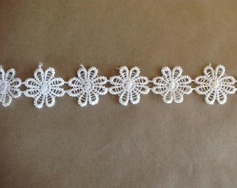 Antique white lace.