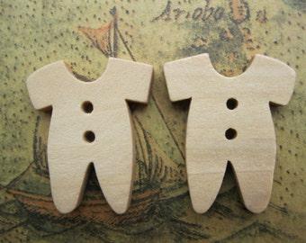 10Pcs 19x22mm Wooden Buttons Clothing Design Assortment Wood Buttons FF
